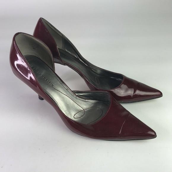 bdfa1b8b2c3 Anne Klein Shoes - Anne Klein Dark Red Pointed Toe Heels